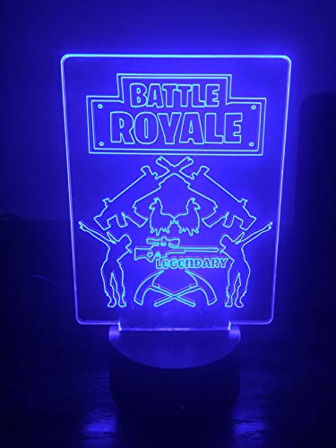 LED Night Light with 7 Color Changing LED Base and Remote Battle Royal Legendary