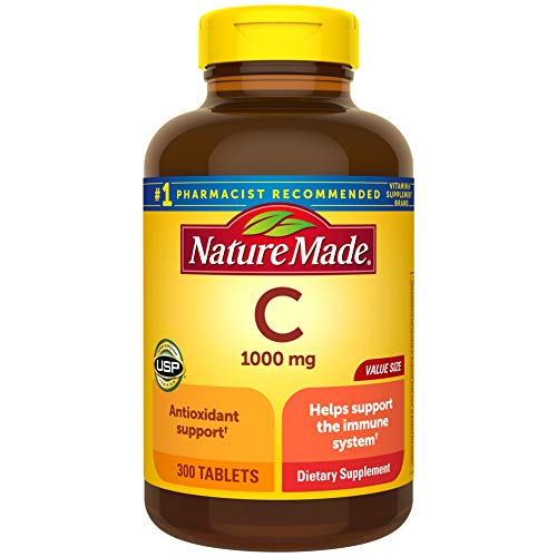 Nature Made Vitamin C 1000 mg, 300 Tablets, Helps Support the Immune System† (Packaging May Vary)