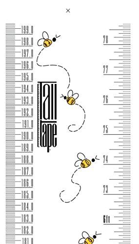 英国製 トールテープ Talltape 壁掛け身長計 200cm レギュラー プラスチック製 TTBee ビー