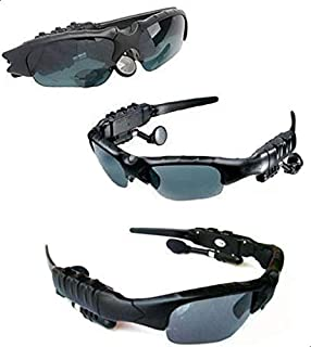 نظارات شمسية بتصميم رياضي مزودة بمشغل ام بي 3 وسماعات بلوتوث للمكالمات الهاتفية وراديو اف ام - (4 جيجابايت)