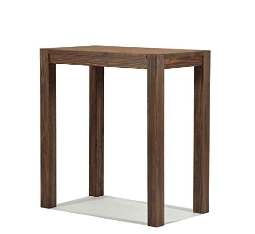 Naturholzmöbel Seidel Hochtisch 100x60cm Rio Bonito Farbton Cognac braun Pinie Massivholz Tisch Bartisch Bistrotisch Stehtisch geölt und gewachst, Optional: passende Barhocker mit Metallstreben
