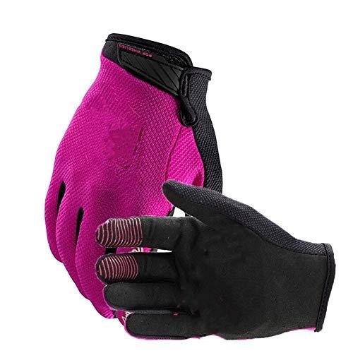 JYKJ Handschuhe for Motorrad der neuen Ankunfts-Vollfinger Motorrad-Handschuhe Motorrad Dirt Bike Racing Handschuhe (Color : Rose, Size : XXL)