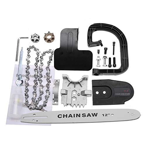 Laliva tools - Electric Chain Saw Bracket Set Woodworking Chainsaw Converter for Angle Grinder Wood Cutting Machine