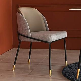 Cenar sillas de Metal, sillas de Terciopelo tapizar sillas de Ocio sillones con piernas robustas metálicos para Cocina, Comedor, Dormitorio, Sala de Estar,Beige