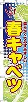既製品のぼり旗 「春キャベツ」季節の旬野菜 短納期 高品質デザイン 450mm×1,800mm のぼり