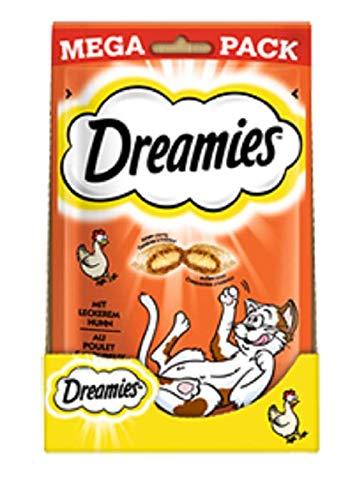 Dreamies - Salchico clásico para Gatos con Pollo, con Textura crujiente y Relleno cremoso, 4 x 180 g