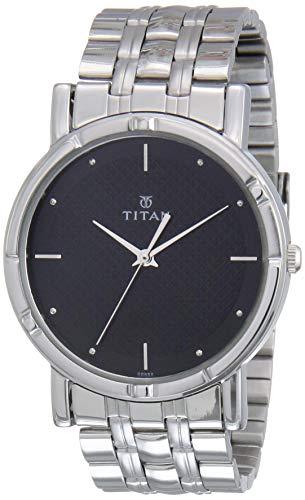Titan Karishma Analog Black Dial Men's Watch -NK1639SM02