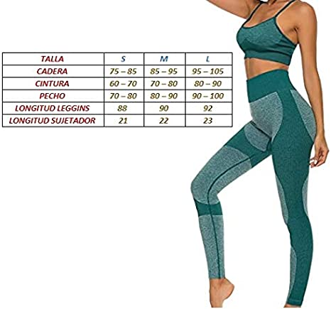 Conjunto Ropa Deportiva para Mujer Leggins Deportivo Mujer Sin Costura ZIMEX Conjunto Deporte Mujer Conjunto Top Y Mallas Mujer Conjunto Leggins Y Top Mujer Ropa Gym Mujer