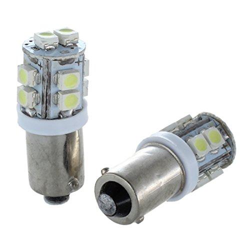 TOOGOO(R) 2 X Bombilla Luz Lateral LED para Coche T11 BA9S T4W 10-SMD Xenon Blanco Alta Potencia 12V UK