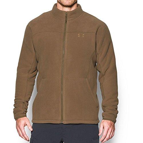 Under Armour Men's Tactical Super Fleece Jacket, Medium, Coyote Brown (220)