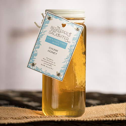 Raw & Unfiltered Chunk Honey by the Beekeeper's Daughter (1 pound)