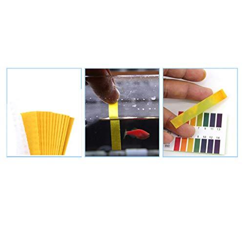 DEtrade PH Teststreifen Pool, wassertester, 80 Stück Teststreifen für Pool, Trinkwasser pH-Wert/Chlor/Alkalinität und Wasserhärte (Yellow)