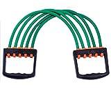 WCOCOW Deportes portátil Cubierta de alimentación Extensor de Pecho Tirador de la Aptitud del Ejercicio de Resistencia elástica Cable Tubo de la Cuerda de Yoga 5 Bandas de Resistencia,Verde