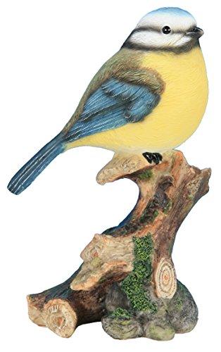 Animaux En Resine 3580792003429 Mésange sur Branche, Multicolore, 9,9x6,6x16,5 cm