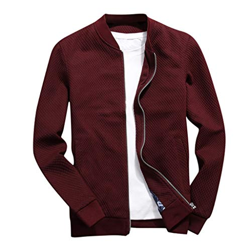 MAYOGO Winterjacke Herren Jeansjacke Trucker Jacke Baseball Jacke Freizeit Herbst Winter Dünne Jacke Tactical Jacket Harrington Jacke Strickjacke