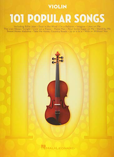 101 Popular Songs - Violin (Instrumental Folio)