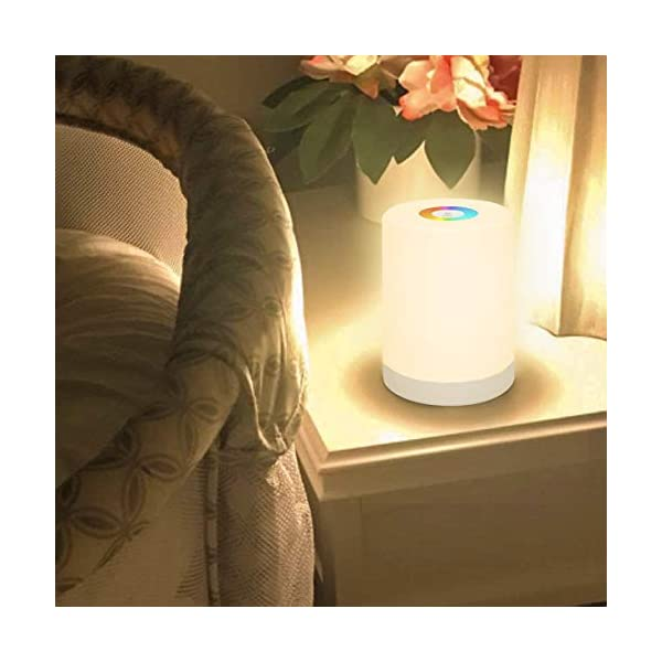 Nursery Night Light, RGB Color Changing Desktop Nightlight, Touch Night Light For Bedroom Breastfeeding, Rechargeable Portable Bedside Lamp, Birthday Gift For Baby Kids Teens Boys Girls