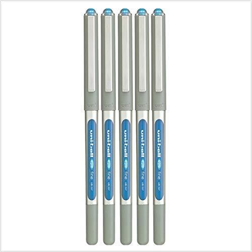 5 x uni-ball Eye UB-157 a sfera penna fine (0.7MM) blu chiaro