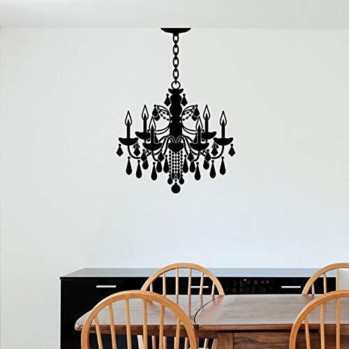 schildpad muurstickers grote, vinyl muursticker kroonluchter aanpasbare ketting lengte geschikt voor thuis muur sticker keuken kamer livi42x58cm