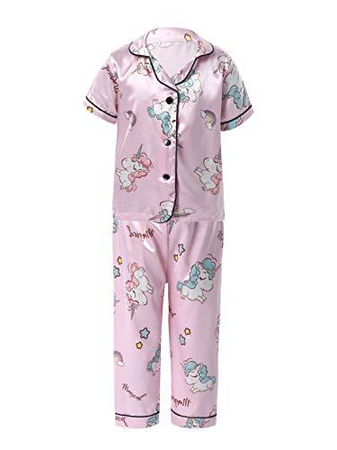 renvena Schlafanzug Mädchen Jungen Einhorn Baumwolle Kinder Langarm Pyjama Set...