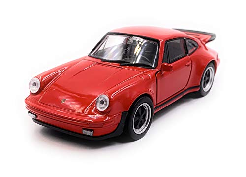 Onlineworld2013 911 Turbo 930 Sportwagen Modellauto Auto Rot Maßstab 1:34 (lizensiert)