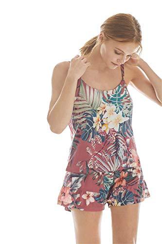 PROMISE Pijama de Mujer con Estampado de Flores N08932