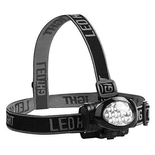 ウルトラスポーツ LED10個 ヘッドランプ 角度調整可能 バッテリー付き