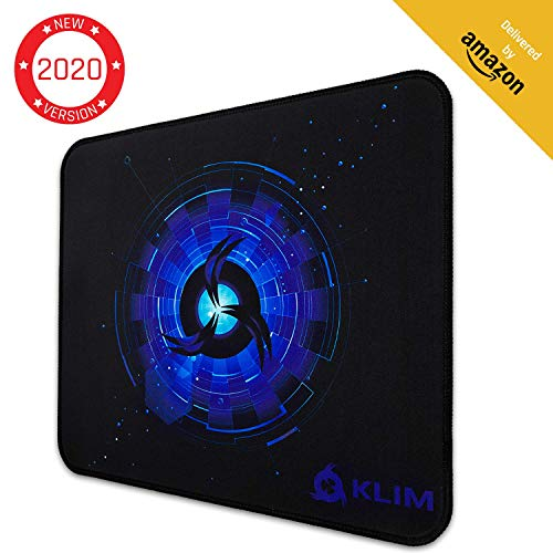 KLIM Mousepad M - Superficie Estesa - Tappetino per Mouse da Gaming Medium - Base in Gomma Antiscivolo - Superficie Testurizzata ad Alta Precisione - 320 x 270 x 4 mm - Blu