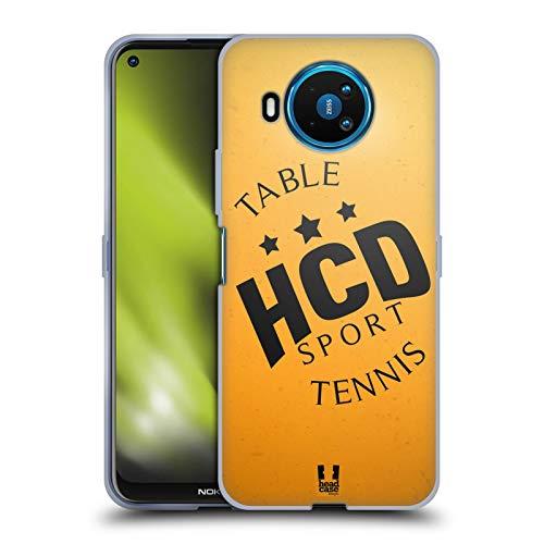 Head Case Designs Ping-Pong Colección de Bolas 2 Carcasa de Gel de Silicona Compatible con Nokia 8.3 5G