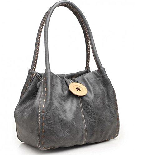 Bessie London Damen Stofftasche, grau, ONE Size