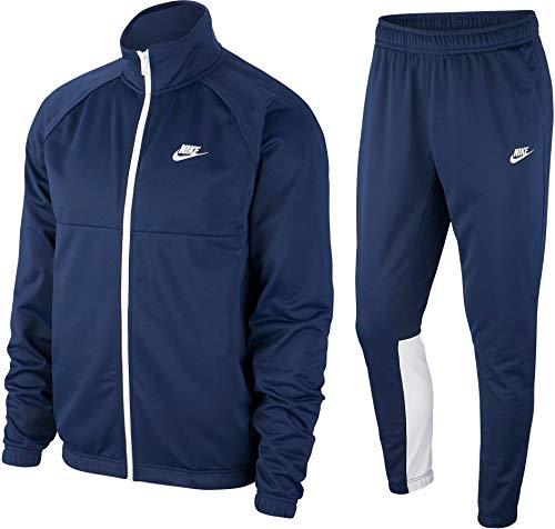 Nike PK Tracksuit Trainingsanzug (L, Navy/White)