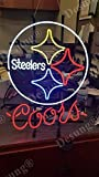 LeeQueen Creative Design Customized New 20inx16in Pittsburgh Sports League Steeler Coor Light Neon Sign (Multiple Man Cave Bar Pub Beer Handmade Neon Light FX01