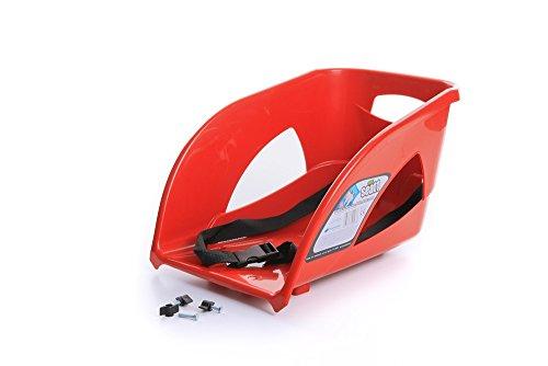 Unbekannt Kindersitz Sitz Lehne für Schlitten Kinderschlitten Rodel aus Kunststoff (Rot)