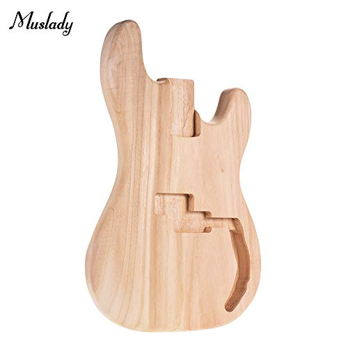 Kalaok Muslady PB-T02 Unfinished E-Gitarren Korpus Platane Holz Blank Guitar Barrel für PB Style Bass Gitarren DIY Parts
