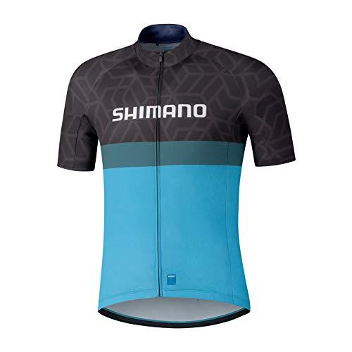 SHIMANO Team Trikot Herren schwarz/blau Größe XXL 2021 Radtrikot kurzärmlig