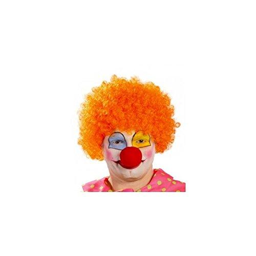 Fiestas Guirca Perücke Clown Orange Wirtschaft