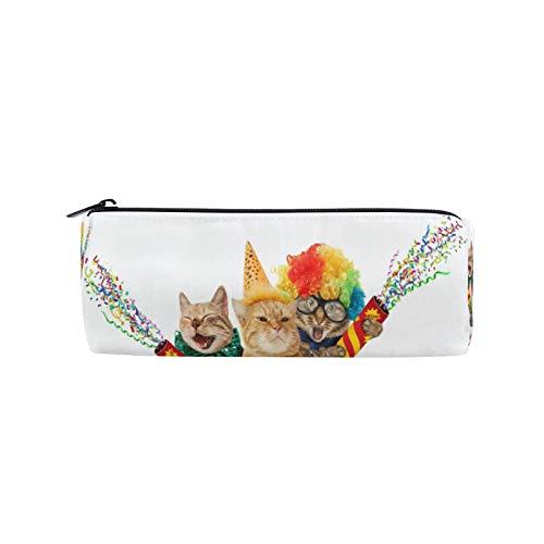 JNlover - Estuche para lápices con diseño de gatos y gatos, redondo, para escritorio, para adolescentes, niños, oficina