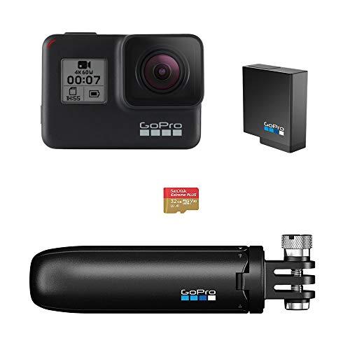 GoPro HERO7 Black Bundle - inklusive Shorty Stativ, Speicherkarte, und zusätzliche Batterie
