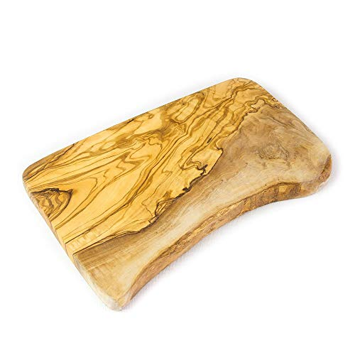 Planche à découper en bois d'olivier rustique/Planche à fromage – 30 x 15 x 2 cm