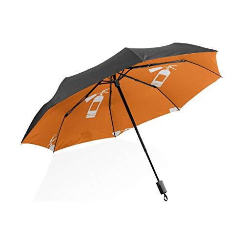Infant Regenschirm Nette Kreative Cartoon Feuerlöscher Tragbare Kompakte Taschenschirm Anti Uv Schutz Winddicht Outdoor Reise Frauen Totes Regenschirme Für Frauen