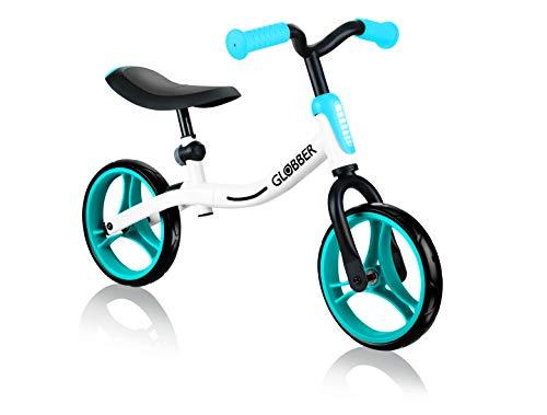 Globber Go Bike 610-160 Blanco-Azul Cielo, Unisex, Talla única