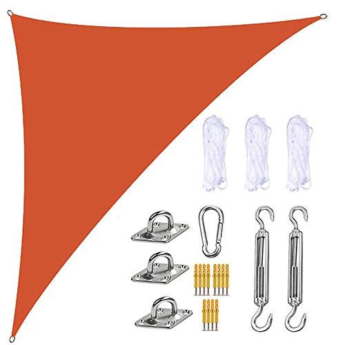 LEDL Garden Toldo Vela Triangular,Toldo Vela de Sombra Patio, 90% Resistente UV, Respirable, HDPE de Alta Densidad