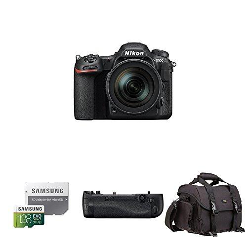Nikon D500 DX-Format Digital SLR with 16-80mm ED VR Lens Deluxe Battery Grip Bundle