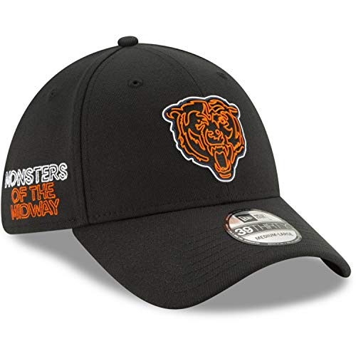 New Era - NFL Chicago Bears 2020 Draft Official 39Thirty Stretch Cap - Schwarz Farbe Schwarz, Größe M-L