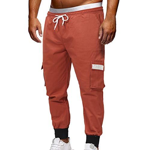 TEBAISE Herren Chino Hose Freizeithose Jogginghose Stoffhose Slim Fit   für Männer Jogging Hose Lang   Jogger Jeans Pants Bund und Saum mit Gummizug