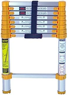 Xtend & Climb 750P Xtend+Climb Home Heavy Duty Telescoping Ladder, 225 Lb, 8.5 Ft, Yellow