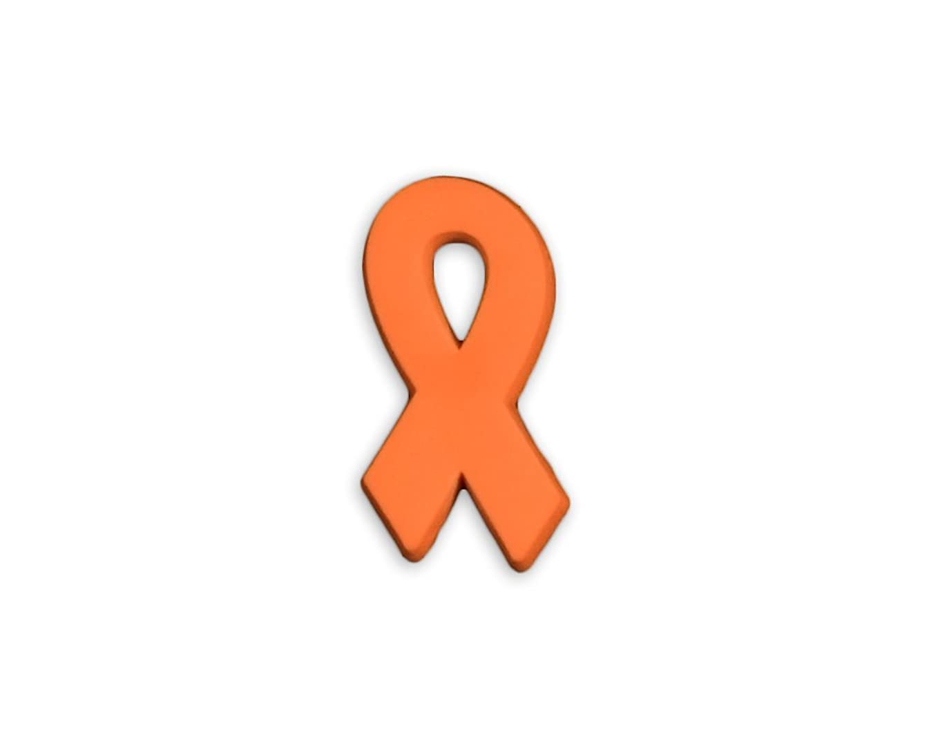 50 Pack Multiple Sclerosis Awareness Orange Ribbon Silicone Pins (50 Pins in a Bag)