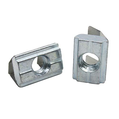 20x M8 Nutenstein 14,0 x5,2 mm für Nut 10, mit Federblech, Stahl
