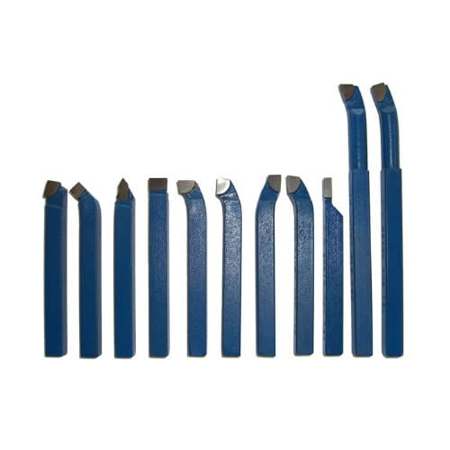 Drehstähle Satz 11-teilig 20 x 20 mm Drehmeißel-Set Drehwerkzeug Drehstahl Neu