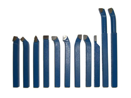 PAULIMOT Drehmeißel-Set 11-teilig mit Hartmetallplatten P30, DIN 4976, 10 mm